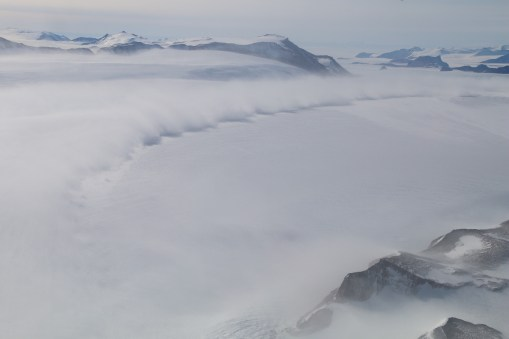Snowstorm front near the Cambridge Glacier, Antarctica. © A. Padilla