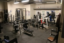 Variety of weight-lifting and training machines at the McMurdo Weight Room.