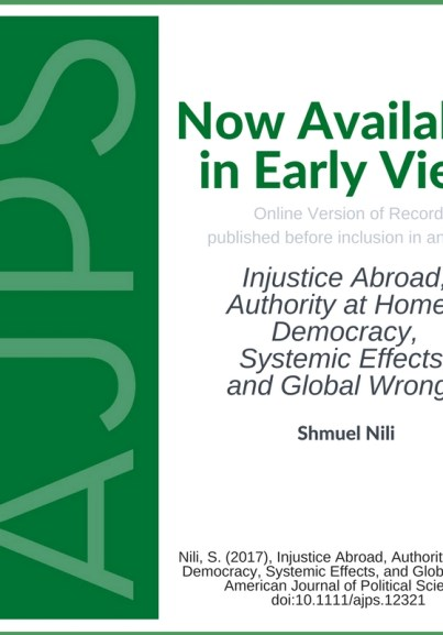 Injustice Abroad, Authority at Home? Democracy, Systemic Effects, and Global Wrongs