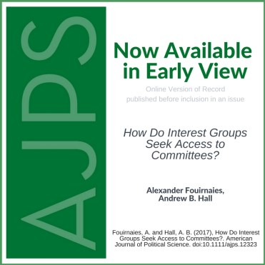 How Do Interest Groups Seek Access to Committees?