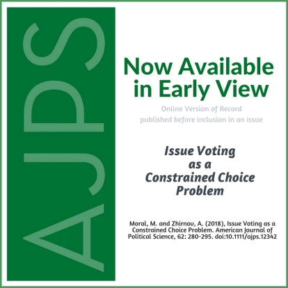 Issue Voting as a Constrained Choice Problem
