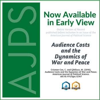 AJPS Author Summary - Audience Costs and the Dynamics of War and Peace