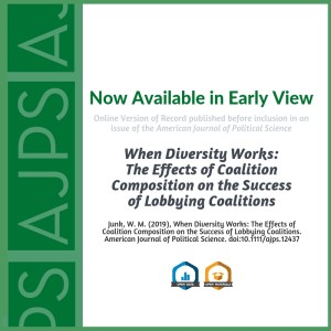 AJPS Author Summary: When Diversity Works: The Effects of Coalition Composition on the Success of Lobbying Coalitions