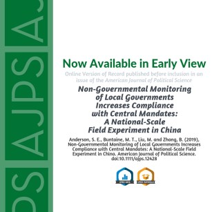 Non‐Governmental Monitoring of Local Governments Increases Compliance with Central Mandates: A National‐Scale Field Experiment in China