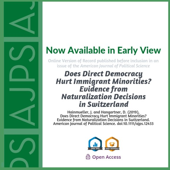 AJPS Author Summary: Does Direct Democracy Hurt Immigrant Minorities?