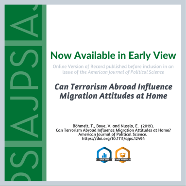 Can Terrorism Abroad Influence Attitudes About Migration at Home