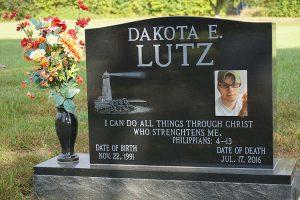 Dakota E. Lutz Gravestone