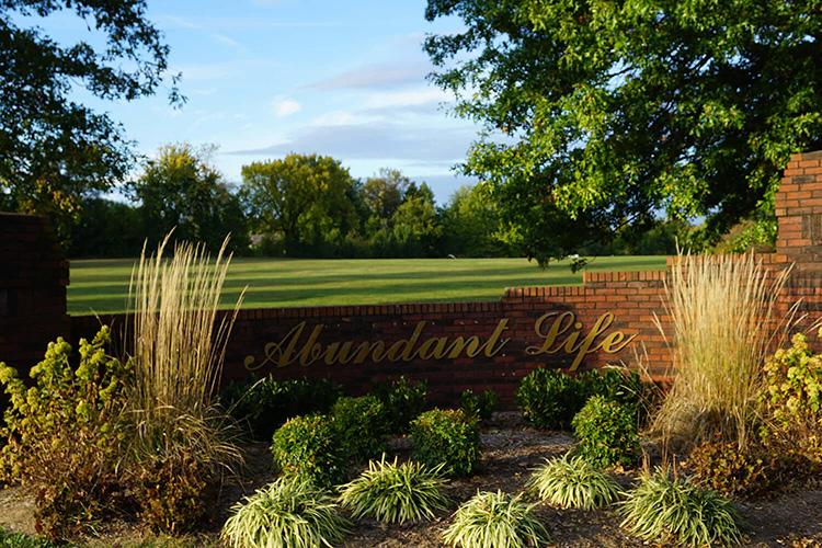 Abundant Life Memorial Gardens Sign