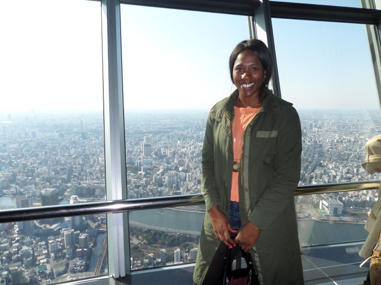 On the 350th floor at the Tokyo Skytree.