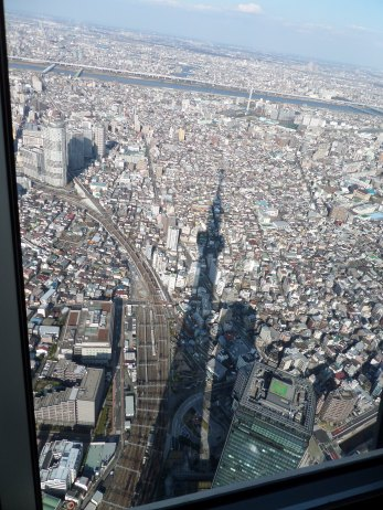 Skytree shadow over the city.