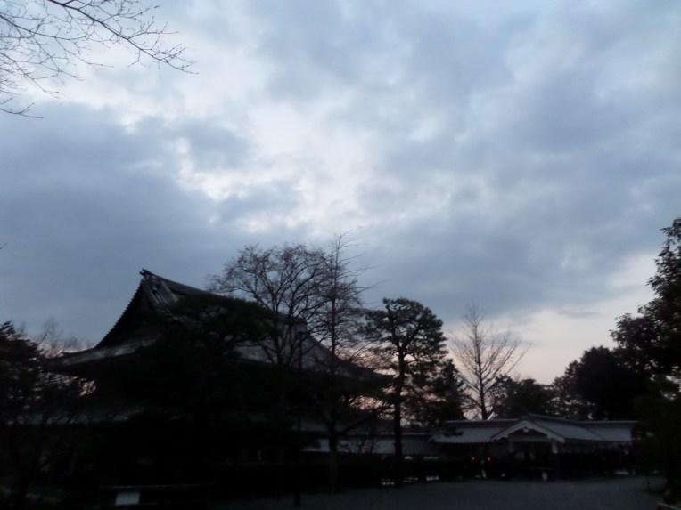 Sun setting behind Nanzenji