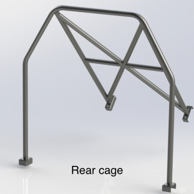 NISSAN 200SX S14 (Half Cage) 6 Point Bolt in Roll Cage
