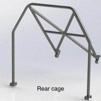 RENAULT CLIO 197 (Half Cage) 6 Point Bolt in Roll Cage