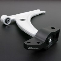 VW PASSAT MK-V FRONT LOWER CONTROL ARM - ALUMINUM FORGED REDUCE WEIGHT BY 3.0 KG (HARDEN RUBBER) 2PCS/SET