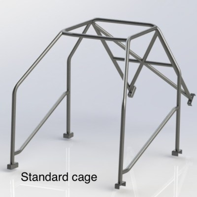 FERRARI 250 (HALF CAGE) 4 Point Bolt in Roll Cage