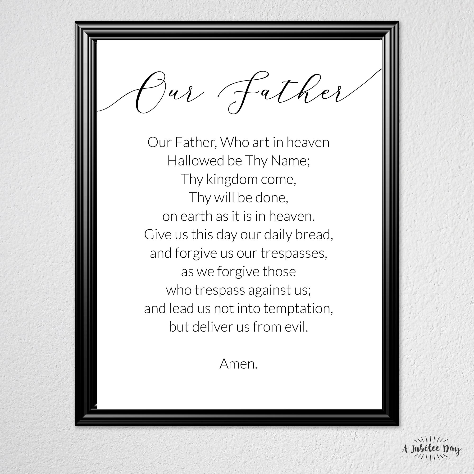 The Best Printable Lords Prayer