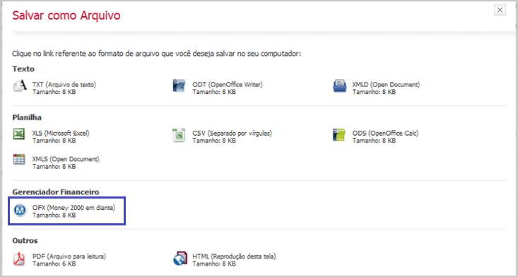 Exportar o Arquivo OFX - Bradesco