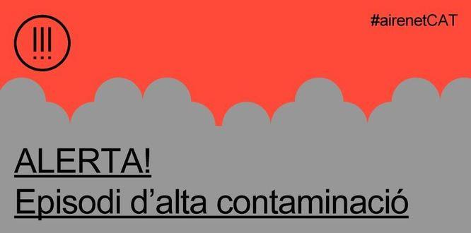 La Generalitat declara un episodi per alta contaminació per partícules a la conurbació de Barcelona