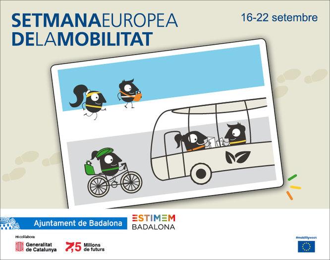 Badalona celebra entre el 16 i el 22 de setembre la Setmana Europea de la Mobilitat