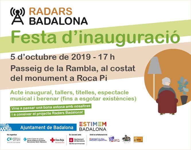 """El projecte """"Radars Badalona"""" es presenta dissabte, 5 d'octubre, amb una festa a la Rambla"""