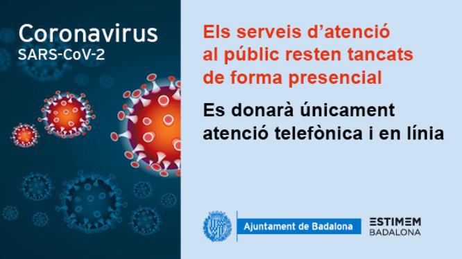 Comunicat de l'Ajuntament de Badalona en relació amb el coronavirus