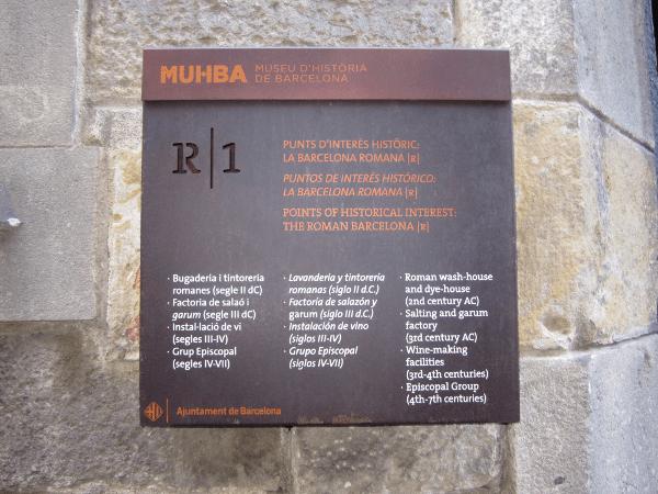 Barcino un recorrido por la Barcelona romana  MUHBA
