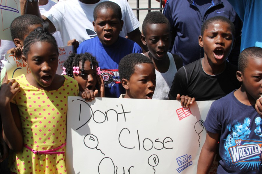 black students fight school closing