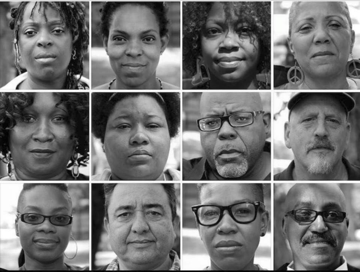 Photo: The twelve Dyett hunger strikers