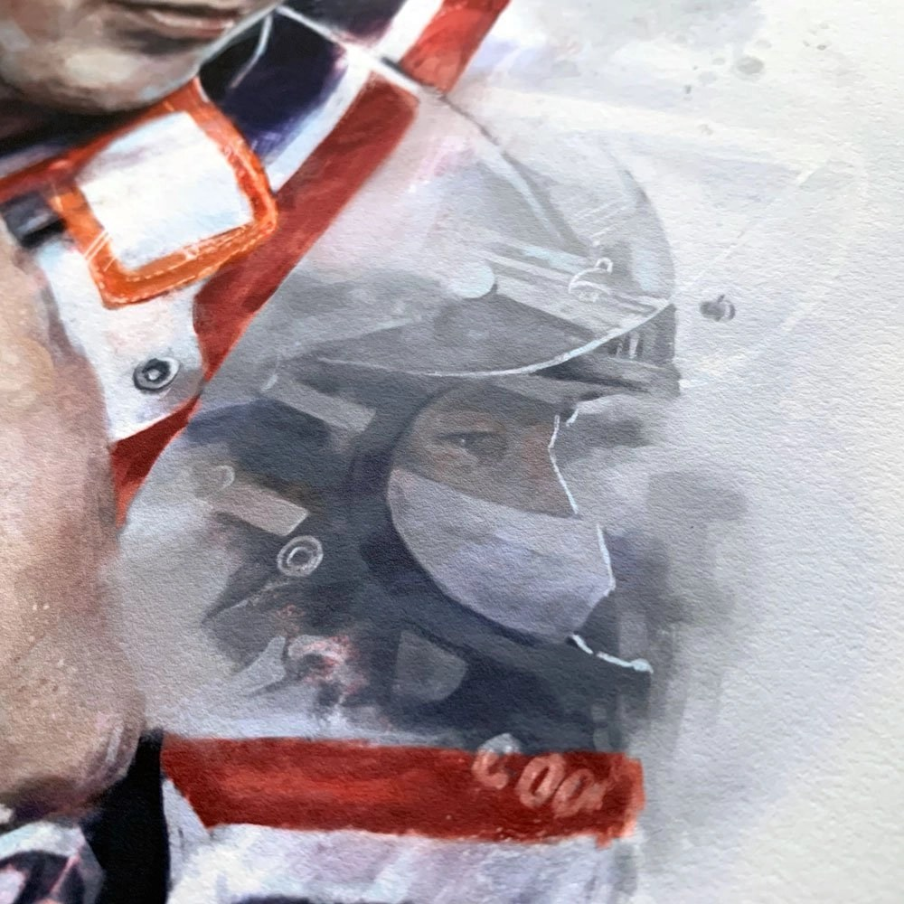 Detail of eyes in racing helmet