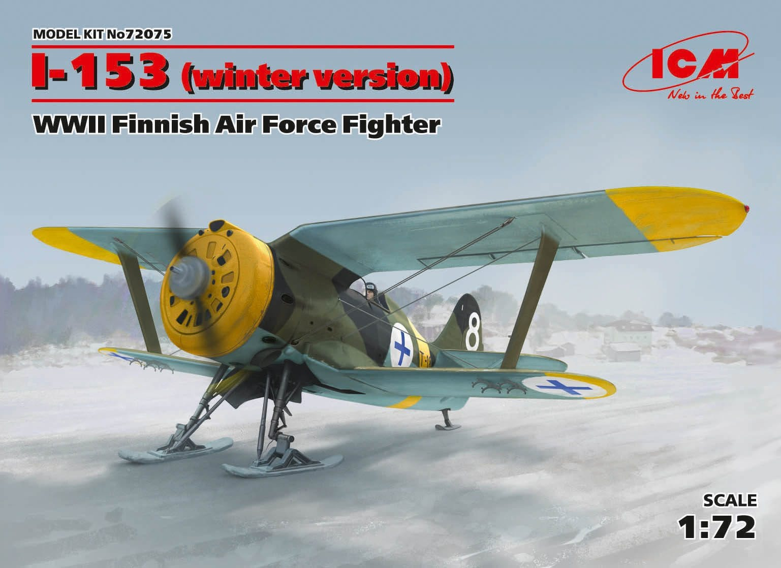 I-153 . WWII Finnish Air Force Fighter (winter version) 1/72 - AK Interactive | The weathering #Brand