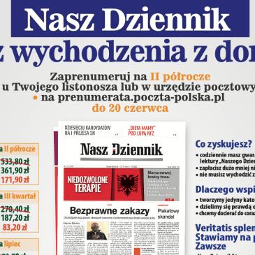 """Polecamy prenumeratę """"Naszego Dziennika"""""""