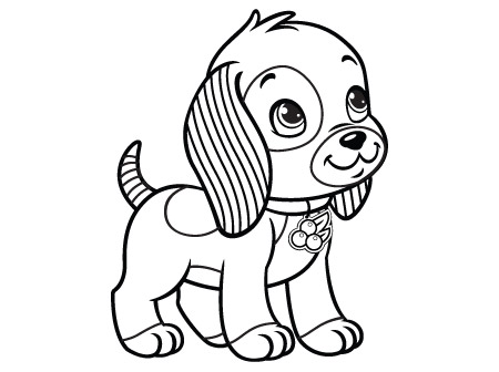 Strawberry Shortcake Puppy Coloring Pages Sketch Coloring Page