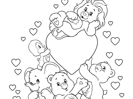 Fun with Care Bears and Cousins! Care Bears Coloring Page