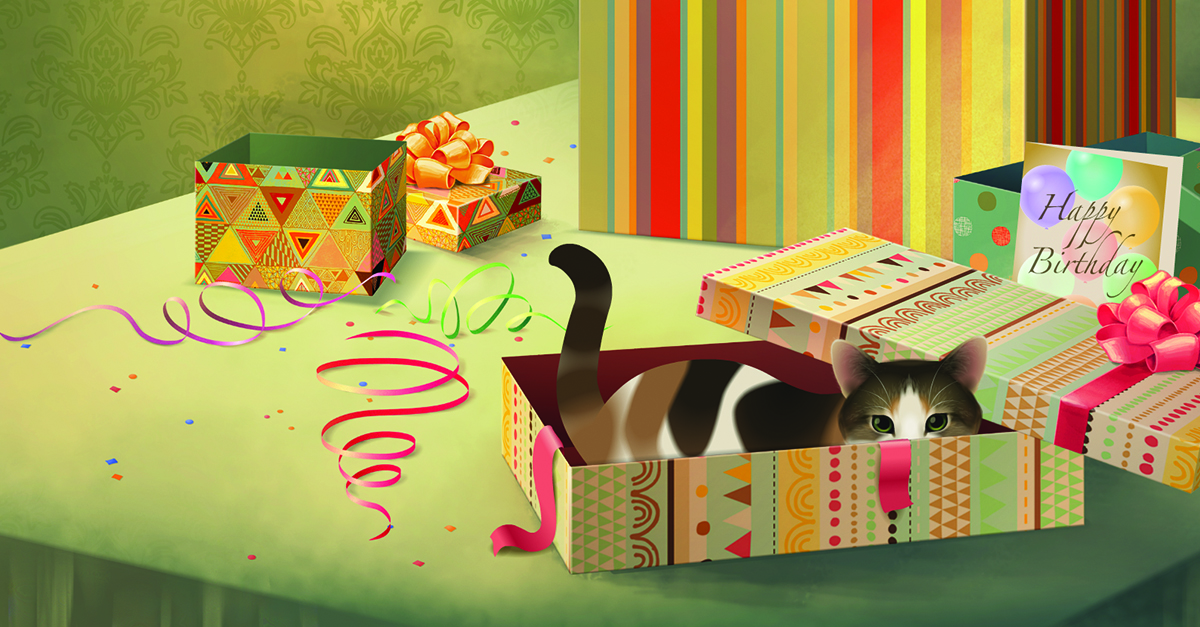 Happy Birthday! Feline Frolics E Card By Jacquie Lawson