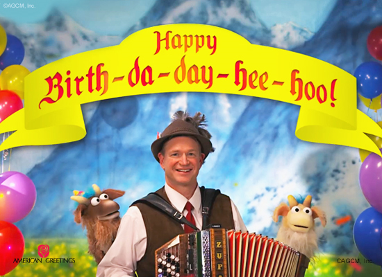 Birthday Yodel Video Ecard Personalized Lyrics
