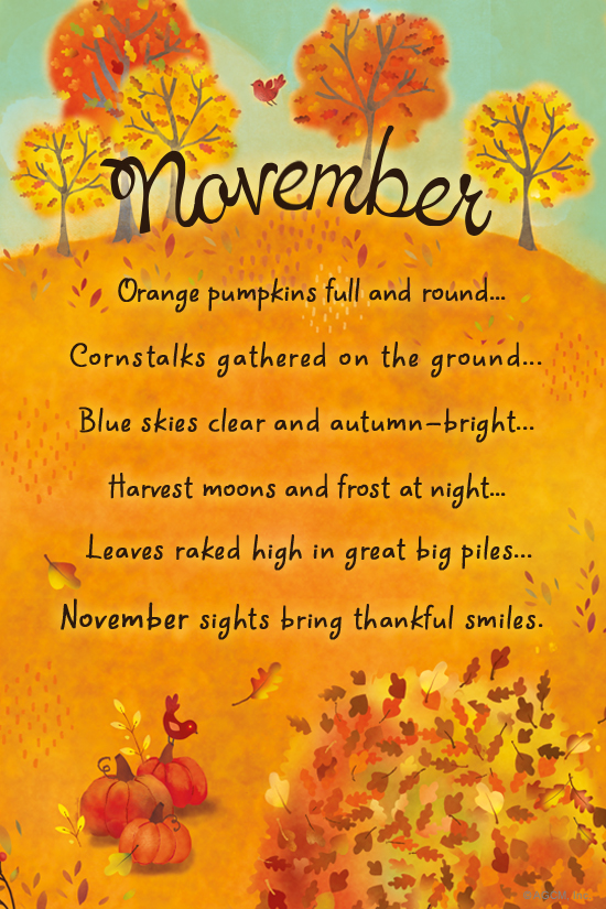 """November Poem"" November ECard Blue Mountain ECards"