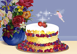 Happy Birthday! The Fairy Cake E Card By Jacquie Lawson