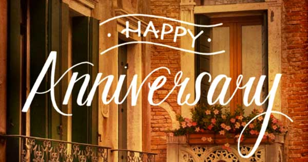 """It's Your Anniversary"" Anniversary ECard Blue"