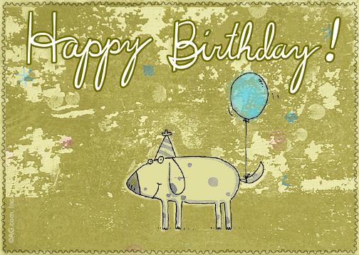 """Birthday Balloon"" Birthday Postcard Blue Mountain ECards"