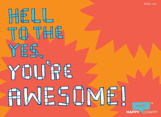 You're Awesome Postcard Congratulations Ecard