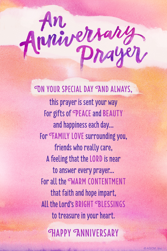 """A Prayer For Your Anniversary"" Anniversary ECard Blue"