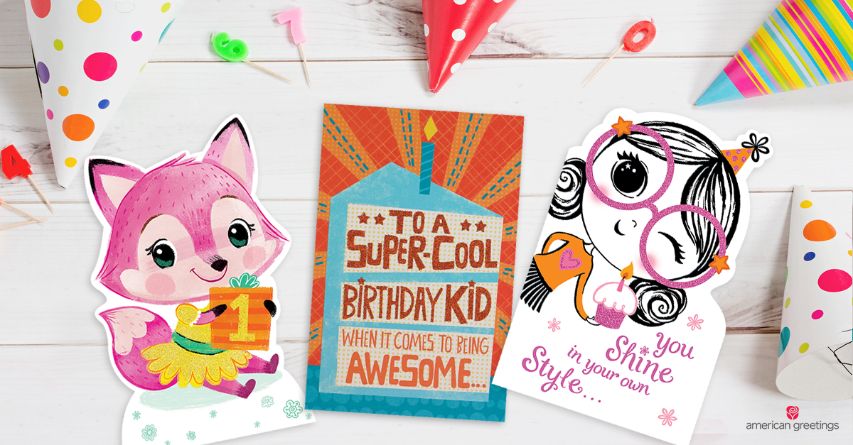 What To Write In A Kid's Birthday Card American Greetings