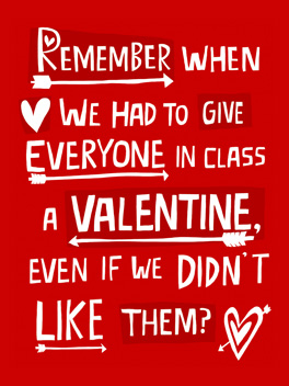 Old School Card Valentine's Day Greeting Card JustWink