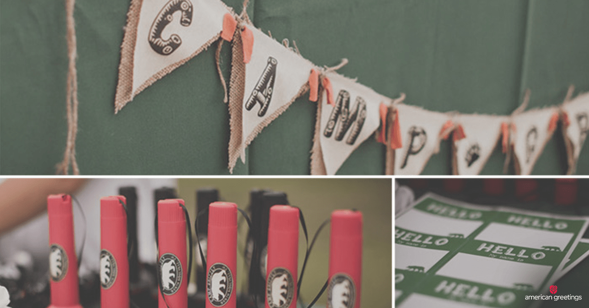 outdoor camping themed birthday
