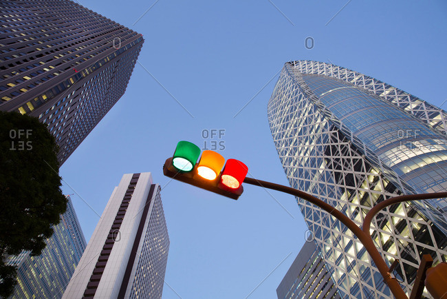 Tokyo Japan December 16 2014 Traffic Light And Shinjuku