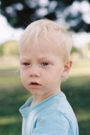 portrait of little boy with blonde
