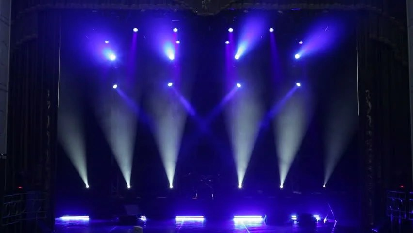 stage lighting effects rays stock