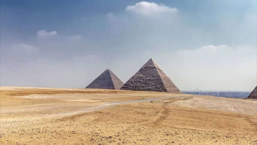 egypt panorama pyramid with high