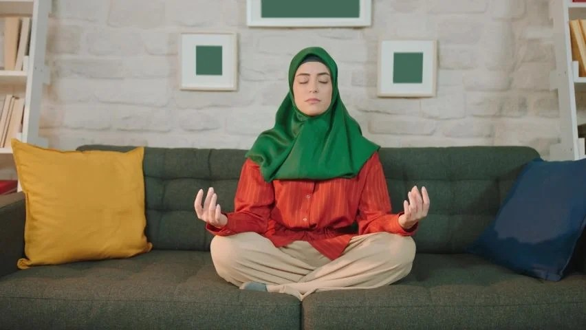 Learn information about the types of yoga, benefits of yoga and more at howstuffworks. Muslim Woman Wearing A Hijab Stock Footage Video 100 Royalty Free 1060117352 Shutterstock