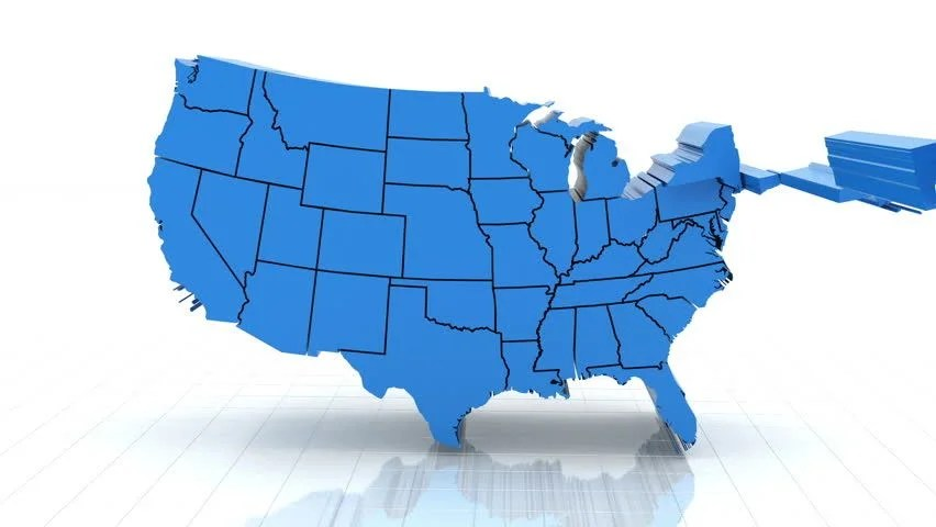 We also provide free blank outline maps for kids, state capital maps, usa atlas maps, and printable maps. 3d Animation Of Usa Map Stock Footage Video 100 Royalty Free 5622944 Shutterstock